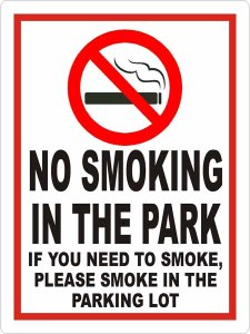 NO SMOKING IN PARK 3-10 smb