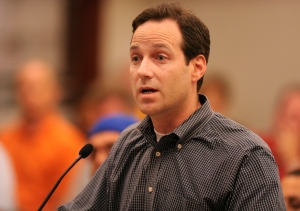 State representative, Scott Drury speaks during Monday evening's Village Board meeting. The agenda included discussion of a proposal to regulate assault weapons in the Village of Deerfield. | Brian O'Mahoney~for Sun-Times Media