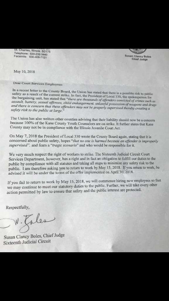 Strike Letter