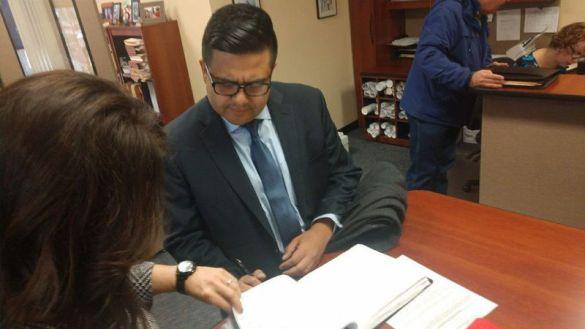 Lopez Files Paperwork